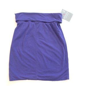 Athleta purple XXS Lima rollover NWT skirt yoga